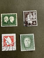 West Germany - 1954, 4 Pcs Used Stamps,XF Condition, See Photos