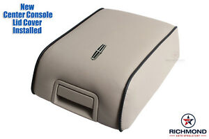 2007 2008 Lincoln Mark LT-Replacement Leather Storage Compartment Lid Cover, Tan