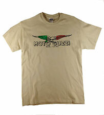Moto Guzzi Italian Vintage Klassisches T-Shirt Biker Motorrad Retro Natürlich