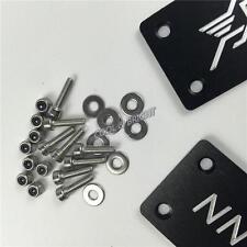 For Hamann Car Floor Mat Carpet Emblem Badge Metal Interior Deco Black 2Pcs