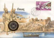 superbe enveloppe OMAN NUMISBRIEF pièce monnaie UNC NEW timbre