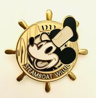 Vtg Disney STEAMBOAT WILLIE #45 Of 101 Disney Movies Brass Back Clasp Pin