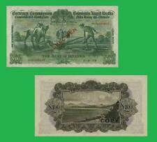 Ireland Currency 100 Pounds  Ploughman Note  UNC - Reproductions
