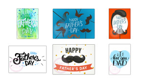 Happy Fathers Day Large Rectangle Stickers Letterbox Party Bag Sweet Box Cone