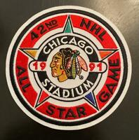1991 NHL All Star Game Jersey Patch Chicago Blackhawks