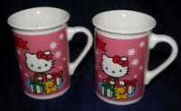 2 Hello Kitty Cup Mug Lot of 2 Sanrio 1976 2013 Hello Kitty Mugs Cups Holiday