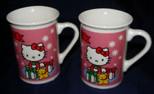 Hello Kitty Holiday Cup Mug Lot of 2 Sanrio 1976 2013 Hello Kitty Mugs