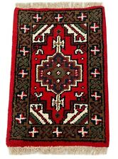 Fußmatten Brücke 40X60 CM Handgeknüpft Teppich Rot 100% Wolle Orientteppich P21