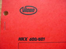Vicon H 620 H621 Rotary Rake Operators Owners Manual #12