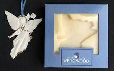Wedgwood Angel W Gold White Jasper Christmas Ornament 2-35001-1005 Retired