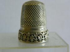 AncienDé à coudre en argent/thimble silver/fingerhut silber