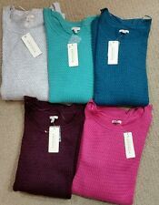 Sonoma Womens Plus Size Textured Weave Sweater SOFT Long Sleeve 1X 2X NWT