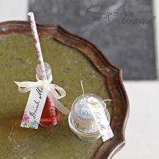 Truly Alice in Wonderland 'DRINK ME' SET -Bottles/Straws- Mad Hatter's Tea Party