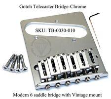 GOTOH TELECASTER MODERN 6 SADDLE BRIDGE CHROME Vintage Mount - GTC202C