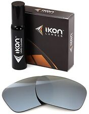 Polarized IKON Iridium Replacement Lenses For Oakley Necessity Silver Mirror