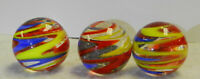 #11844m Group of 3 Contemporary Shooter Marbles .98 Inches *Mint*