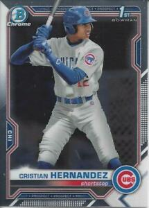 CRISTIAN HERNANDEZ 2021 BOWMAN CHROME PROSPECT 1ST BOWMAN RC CHICAGO CUBS