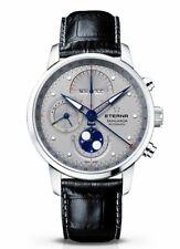 New $6750 Eterna Tangaroa Moon phase Chronograph 42mm triple calendar Swiss made