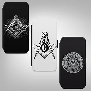 Mason Masonic Symbol Logo WALLET FLIP PHONE CASE COVER for IPHONE SAMSUNG HUAWEI