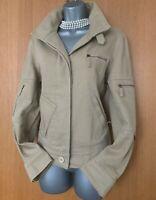 Size UK 12 Exquisite Karen Millen Beige Cotton Casual Blazer Bomber Jacket EU 40