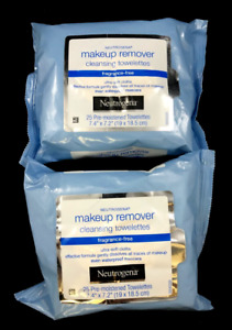 x2 Neutrogena Makeup Remover Cleansing Towelette FRAGRANCE FREE 25ct (PACK OF 2)