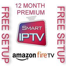 12 MONTHS *PREMIUM WORLD IPTV* VOD (10 SERVERS) FIRE TV
