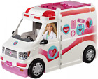 Barbie Careers Care Clinic Vehicle, ambulance with lights and Multicolor