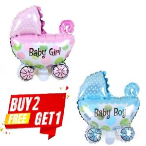 Baby Shower Baby Girl Baby Boy Balloon Pram Christening Foil Party 72x78cm decor