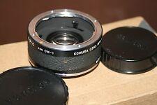 Komura Telemore 95 K.M.C - 2X Teleconverter For Olympus - Good Condition + Case