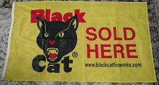 Black Cat Fireworks 3' x 5' Polyester Flag