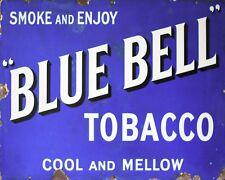 10 x 8 Blue Bell TABACCO pipa sigaretta Vintage annuncio placca di metallo tin sign 624