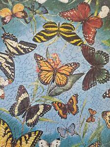 Springbok BUTTERFLIES Circular Jigsaw Puzzle ©1966 COMPLETE 500pc #C924