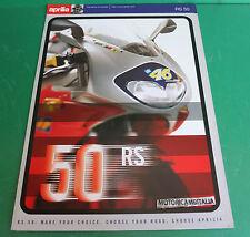 APRILIA RS50 RS 50 VALENTINO ROSSI MOTO BROCHURE DEPLIANT PIEGHEVOLE CATOLOGUE