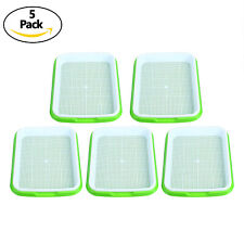 5Pack of Seed sprouter tray (with bottom tray)Bpa Free Nursery Tray for Seedling