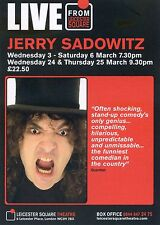 JERRY SADOWITZ Theatre Flyer Handbill