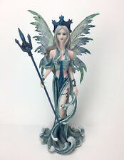"""10"""" WATER FAIRY STATUE Mythical Fantasy Figurine Hand Painted Resin - LOVELY!"""