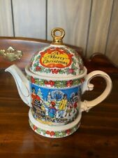 Vintage Sadler A Merry Christmas Holiday Teapot Design #2005894 Made in England