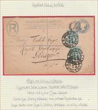 1902 EDWARD VII 1/2d ON 2d REGISTERED SCOTTISH LETTER STIRLING TO GLASGOW