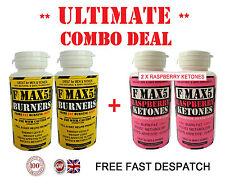 STRONG WEIGHT LOSS SLIMMING DIET PILLS - FMAX5 FAT BURNERS + RASPBERRY KETONES H