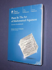 Teaching Co Great Courses DVDs      PROVE IT  MATHEMATICAL ARGUMENT   new sealed