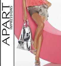 Nouveau luxe satin shorts-shorts Avec Bind Ceinture t 40 Apart Khaki-Argent * 478780