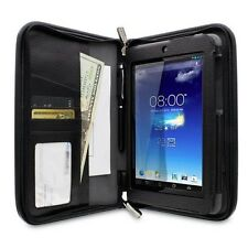 rooCASE Executive Leather Folio Case for ASUS MeMO Pad HD 7 w/Stylus (Black)