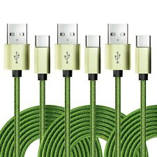 3x USB-C Kabel Nylon Ladekabel Datenkabel USB Typ C Handy Smartphone Tablet HDD