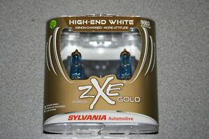 Sylvania Silverstar ZXE GOLD 9003 Pair Set Headlight Bulbs Xenon Fueled H4 NEW