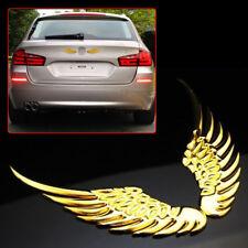 Golden Angel Wings Car Window Bumper Body Badge Sticker Decal Emblem 3D