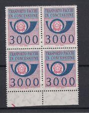 Italia 1986 pacchi in concessione in quartina n. 22 Mnh