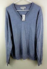 61657296ba NEW NWT  80 PRONTO UOMO Men s V-Neck 100% Merino Wool Sweater Gray XXL