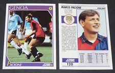 120 MARCO PACIONE GENOA FOOTBALL CARD 92 1991-1992 CALCIO ITALIA SERIE A
