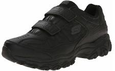 Skechers Shoes Men Memory Foam Sports Casual Sneaker No-Lace Fit Final Cut BLACK