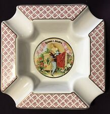 """ROMEO Y JULIETA  6"""" Square Ceramic Cigar Ashtray - Mint Condition!"""